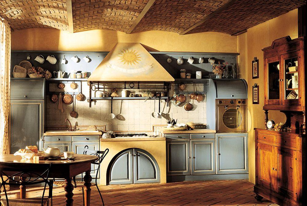 adelaparvu.com despre bucatarii rustice, bucatarii country style, model Granduca, Marchi Cucine (5)