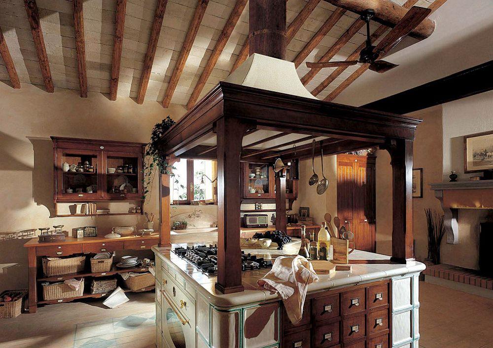 adelaparvu.com despre bucatarii rustice, bucatarii country style, model Hemingway, Marchi Cucine (3)