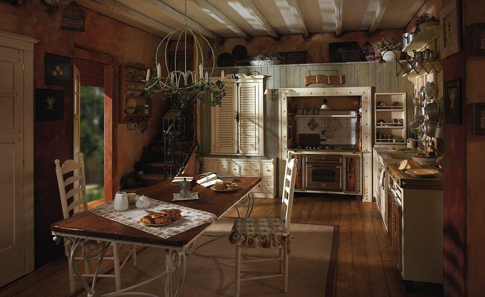 adelaparvu.com despre bucatarii rustice, bucatarii country style, model Incontrada, Marchi Cucine (4)