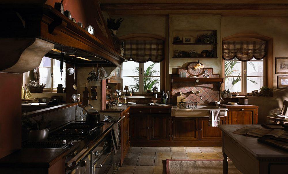 adelaparvu.com despre bucatarii rustice, bucatarii country style, model Valenzuela, Marchi Cucine (4)