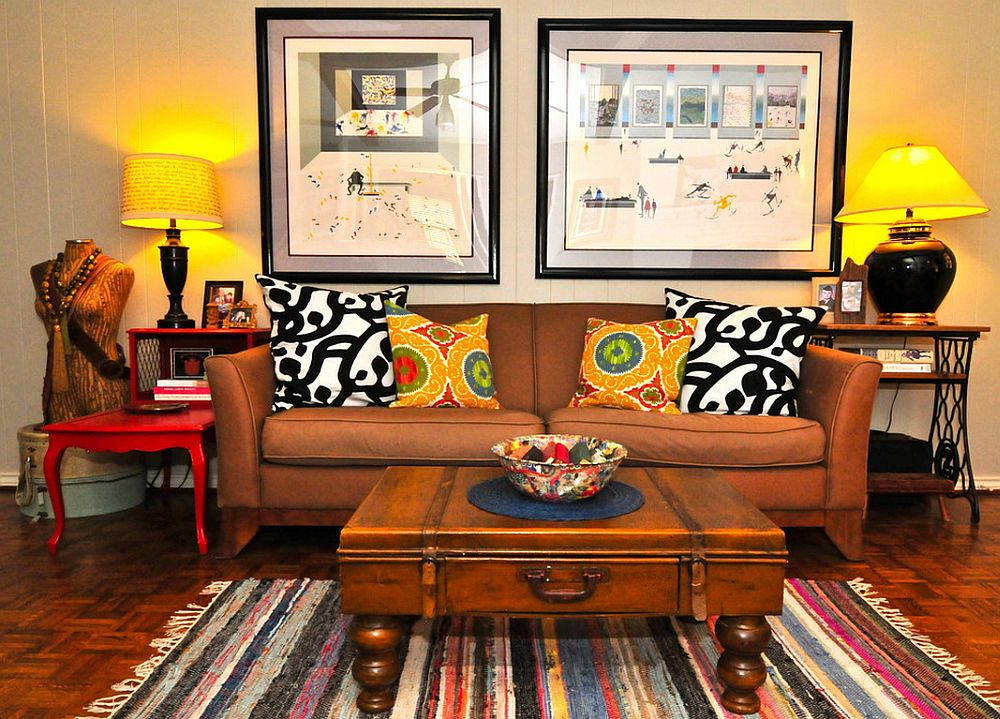 adelaparvu.com despre living colorat in stil eclectic, decorator artista Sarah Greenman (11)