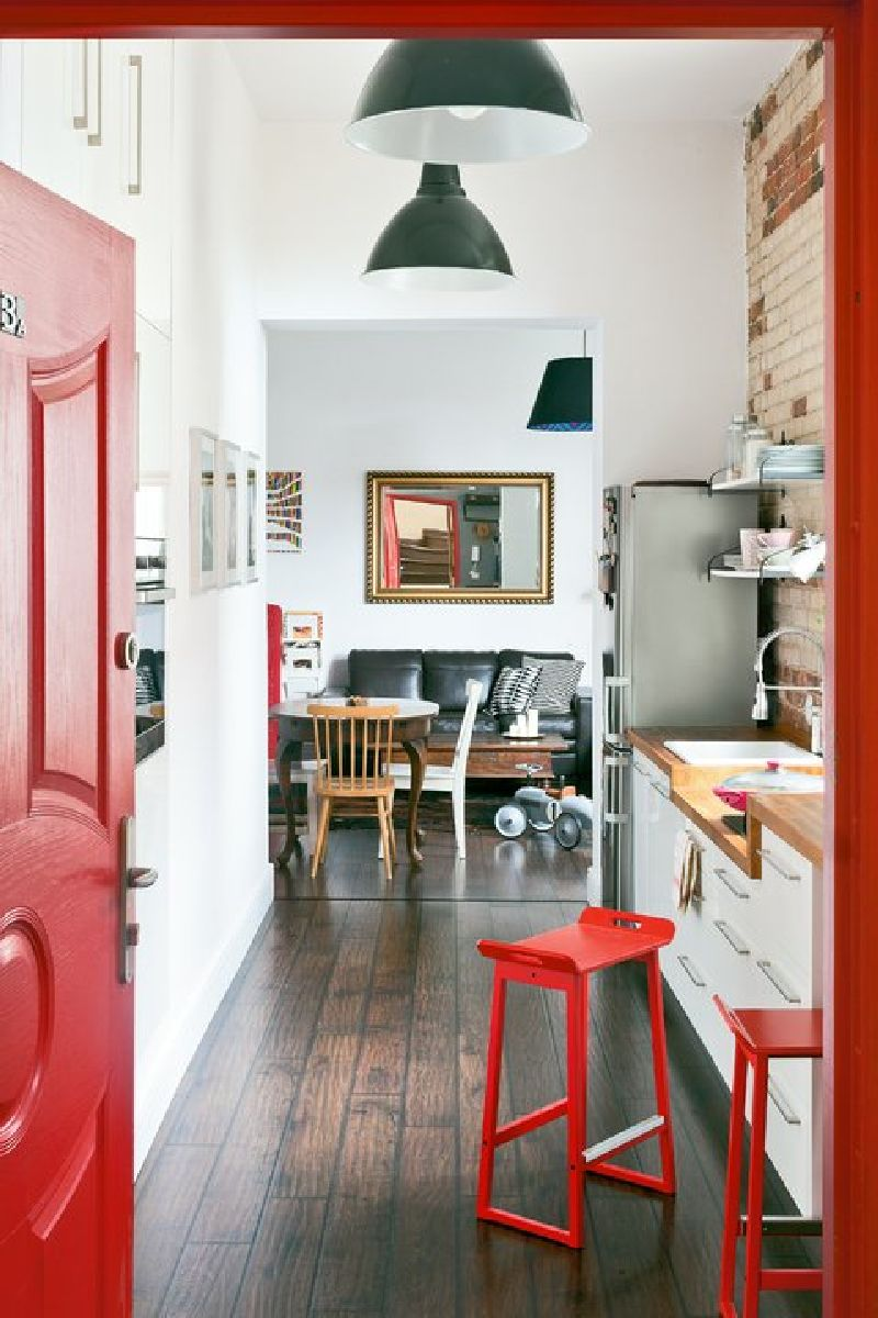 adelaparvu.com despre locuinta cu bucatarie pe hol, 80 mp, arhitect Dorota Janusiewicz, Foto Marcin Czechowicz (2)