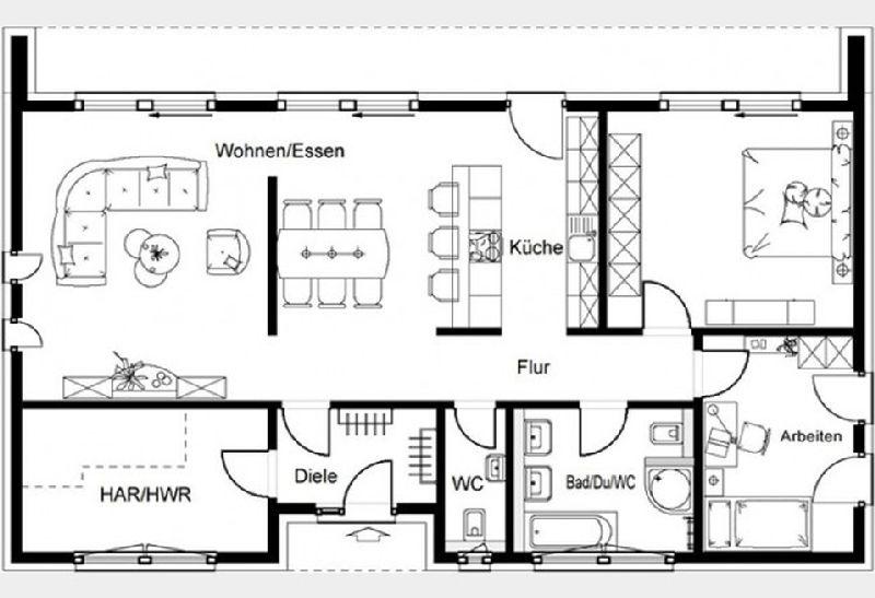 Model casa Okal, Suprafata 134,45 mp, 3 camere, Proiect Haus xxl