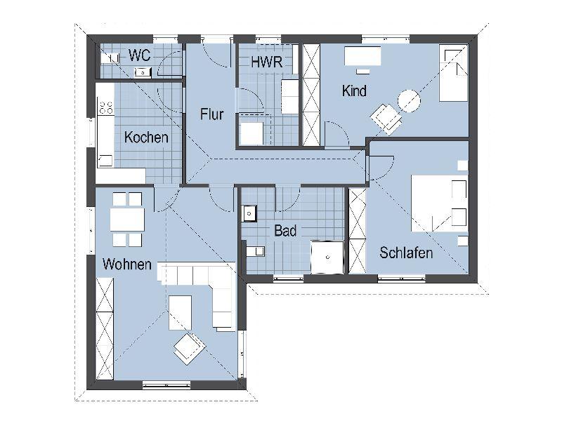 Model casa Top Star 128, Suprafata 141 mp, 3 camere, Proiect Hanlo