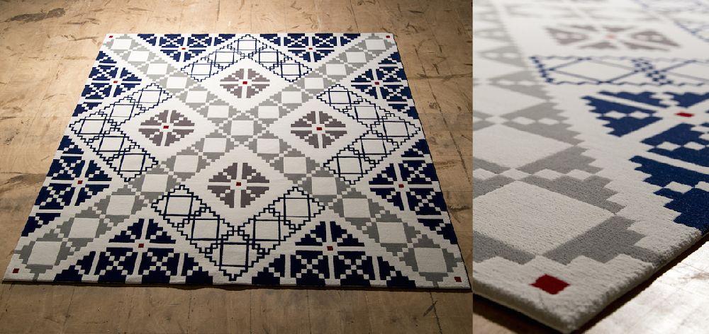adelaparvu.com despre covoare de lana, designeri Andreea Batros si Flavia Scinteanu, Dare to Rug, model Puzzled
