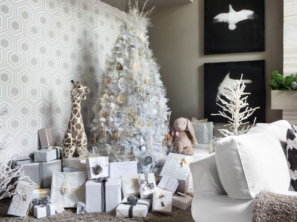 All White Christmas Tree Beauty