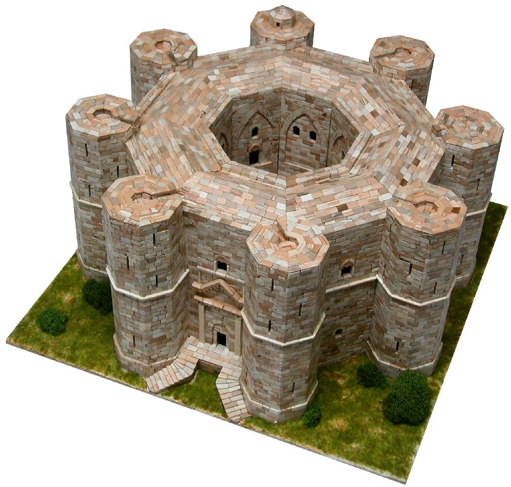 adelaparvu.com despre kituri de constructie, castelul Castel del Monte, Atelierul de Modelism