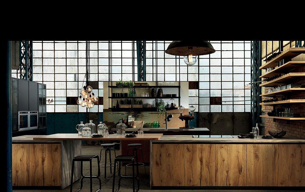 adelaparvu.com despre bucatarii in stil industrial, colectia Factory Aster Cucine (34)