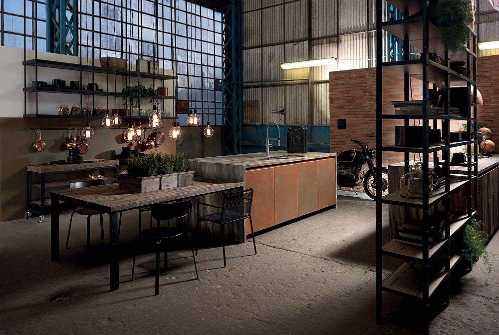 adelaparvu.com despre bucatarii in stil industrial, colectia Factory Aster Cucine (39)