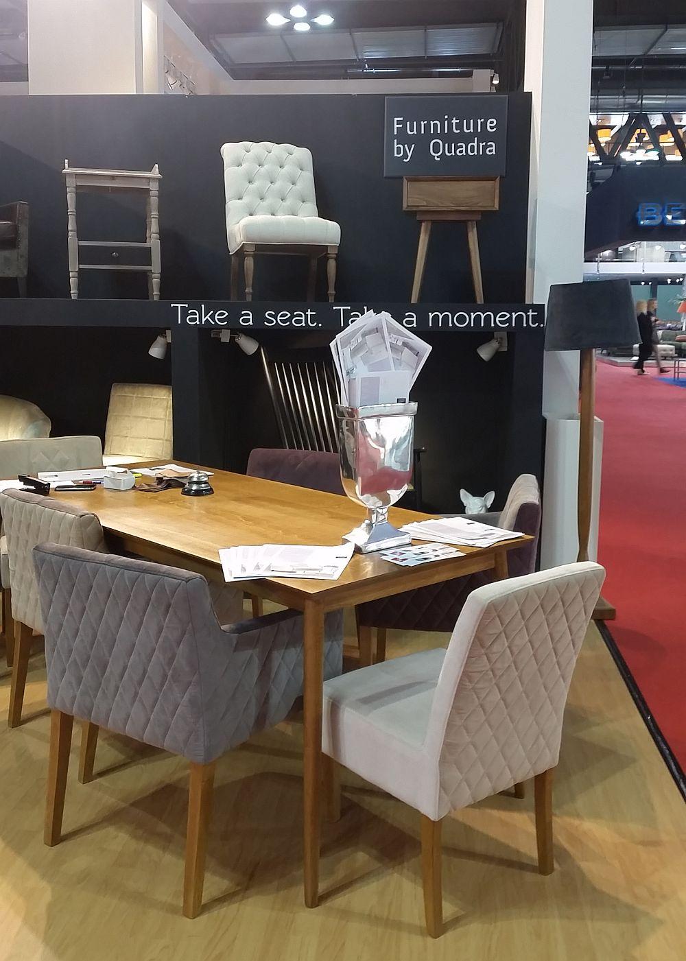 adelaparvu.com despre firme romanesti de mobila la Salone del Mobile Milano 2016, stand Quadra Furniture (6)