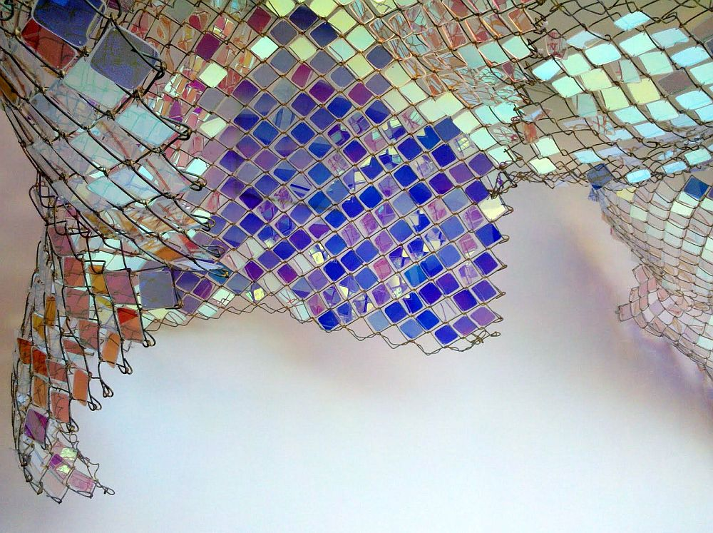 adelaparvu.com despre gard de sarma ca opera de arata, Unwoven Light, artist Soo Sunny Park , Rice University Art Gallery (6)