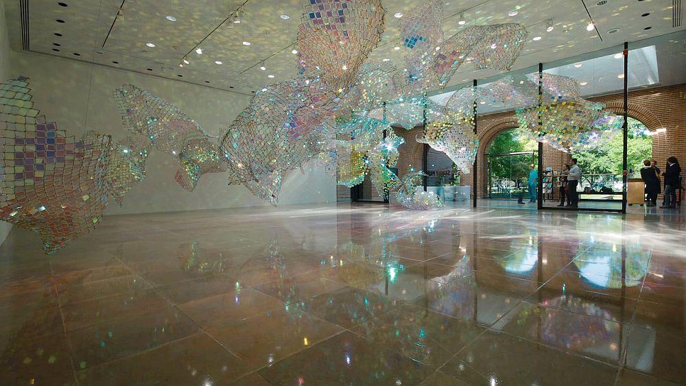 adelaparvu.com despre gard de sarma ca opera de arata, Unwoven Light, artist Soo Sunny Park , Rice University Art Gallery (9)