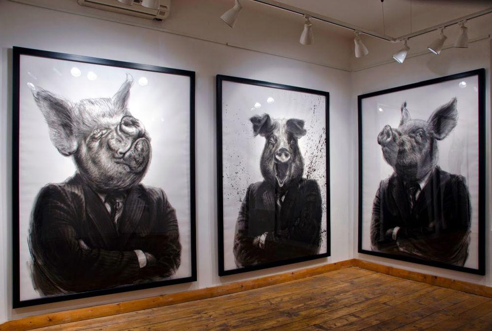 adelaparvu.com despre expozitia Political Bestiary, 2014, Casa Artelor Mogosoaia, Artist Valeriu Mladin (8)