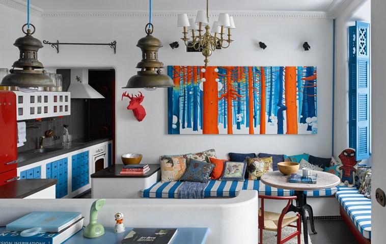 adelaparvu.com despre apartament 2 camere, 40 mp, Moscova, design Elena si Kirill Cheburashkin, Foto Sergey Ananiev (12)