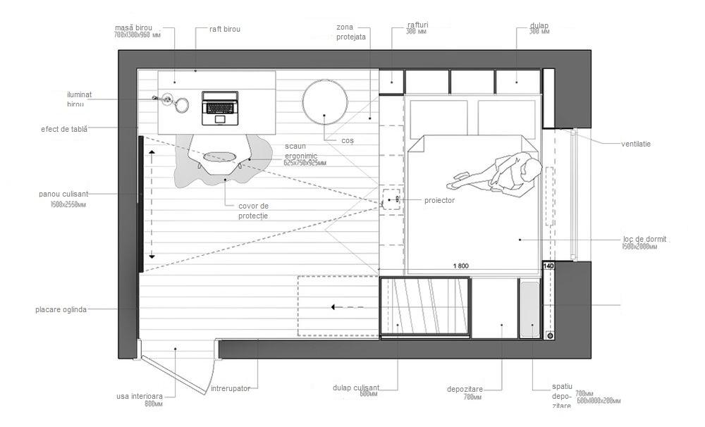 adelaparvu.com despre camera multifunctionala de 14 mp, Moscova, Design INT2architecture (10)
