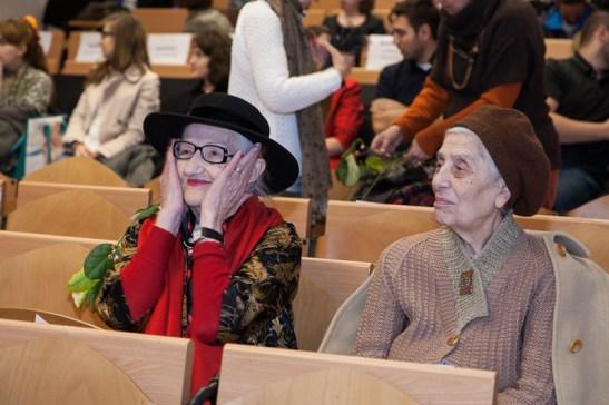 Maestrele Ecaterina Teodorescu si Leontina Mailatescu. FOTO Andrei Iliescu
