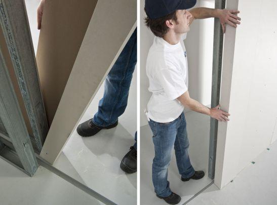 Pentru acest proiect specialiştii Rigips  au montat în peretele de gips-carton un sistem de uşi glisante Pocket ® Schiebetürbox de la Brandt.