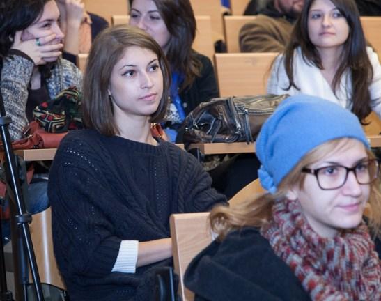Teodora Chirosca castigatoarea premiului pentru anul II Master. Foto: Andrei Iliescu