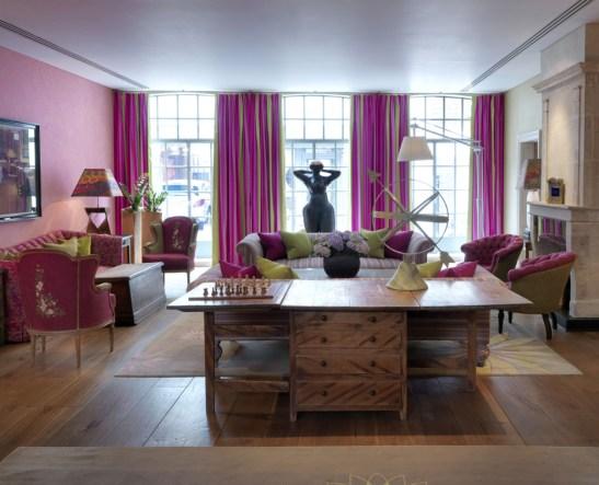 Drawing Room - spatiu pentru oaspeti la The Soho Hotel, designer Kit Kemp