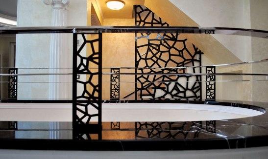Balustrada si elemente decor din tabla de otel realizate de SUPERFABER