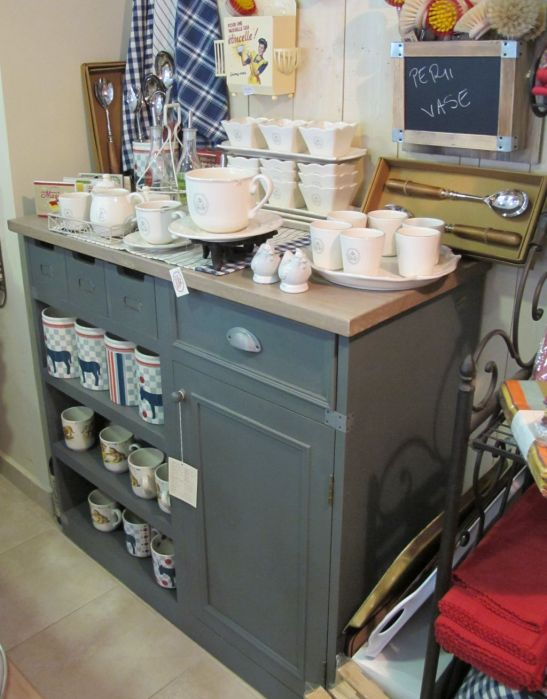 Bufet pentru bucatarie din lemn in stil provensal pret de la 1200 lei la Comptoir de Famille
