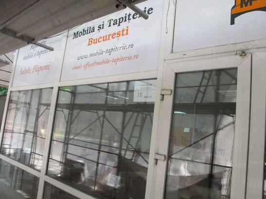 Fatada atelierului Mobila si Tapiterie din Bd Nicole Titulescu 18 Bucuresti