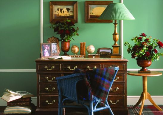 Nuanta de verde potrivita cu mobila inchisa la culoare Foto Copyright © Akzo Nobel