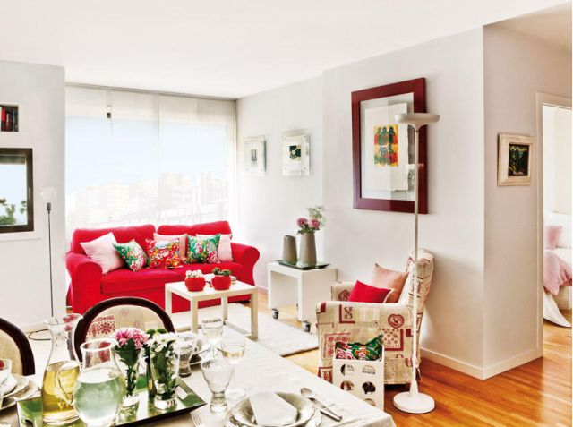 Bucatarie separata cu panouri japoneze intr un apartament de 50 mp adela p rvu jurnalist - Decoracion pisos pequenos ikea ...