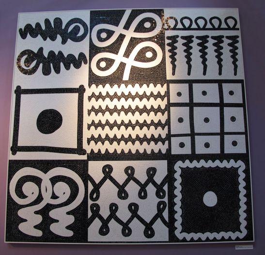 Mozaic artistic semnat de Paola Navone pentru Bisazza