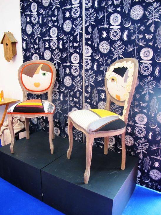 Scaunul Draga alaturi de Primavara colectia TheCraft Lab designer Irina Neacsu