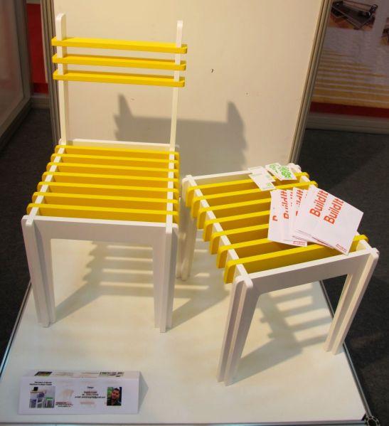 Set scaune si taburet, realizate de Zetam, designer Boghita Andrei