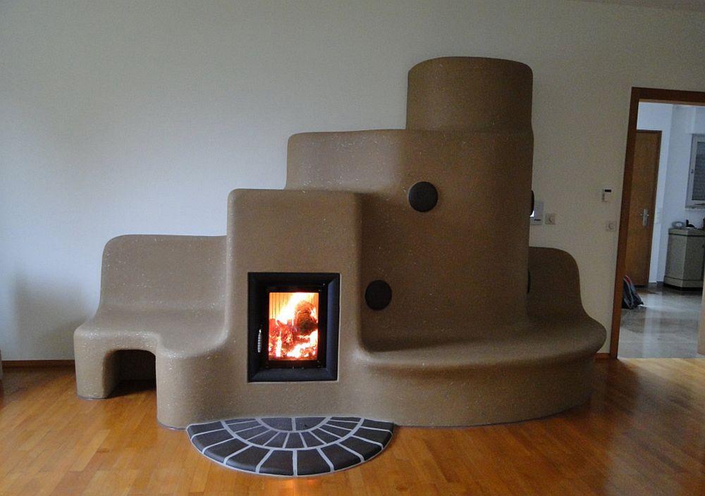 Sobe din lut prelungite cu mobilier adela p rvu for Decorative rocket stove