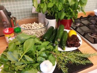 Ingredients for Raw Lasagne