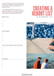 reboot list pdf