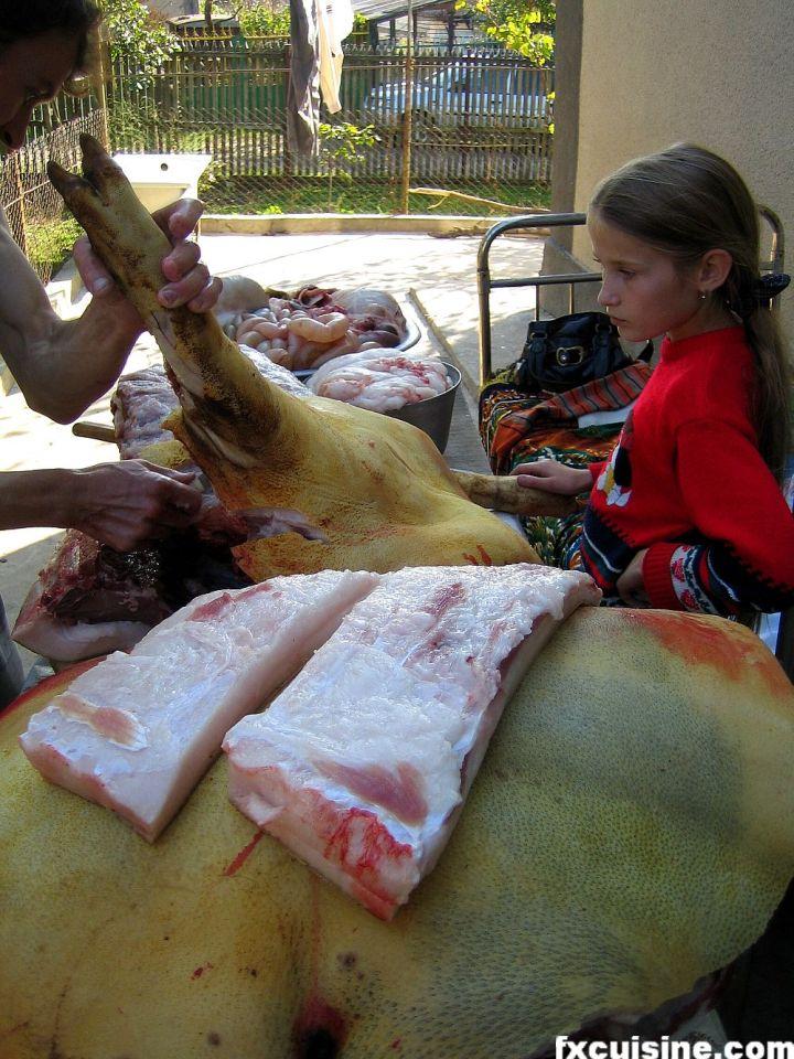 portionare porc