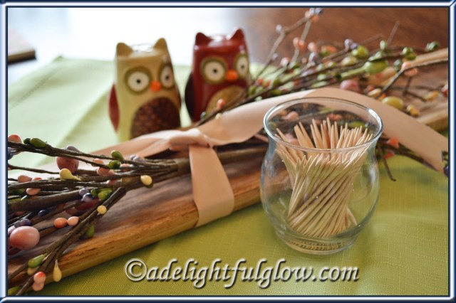 Votive holder turned toothpick holder!