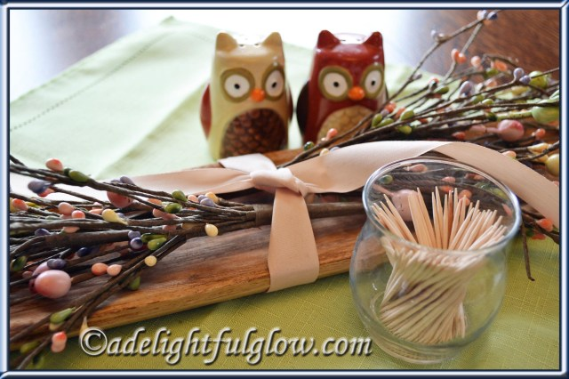 Toothpick holder from a votive candleholder~