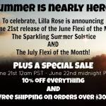 Upcoming Sale and June and July Flexis at Lilla Rose!