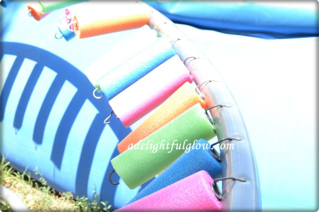 Covering Trampoline Springs With Pool Noodles