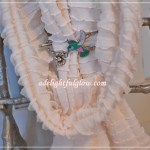 Giveaway~Creamy White Ruffled Scarf and Hummingbird Flexi