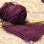 Yarn Along {Purple Dishcloth and Eleanor Estes}