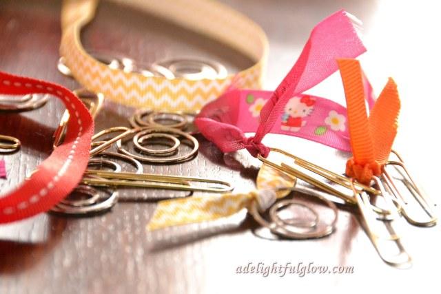 Ribbon Embellished Paper Clips