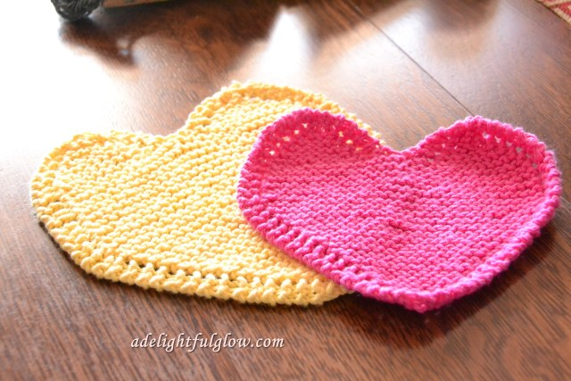 Heart dishcloths 1