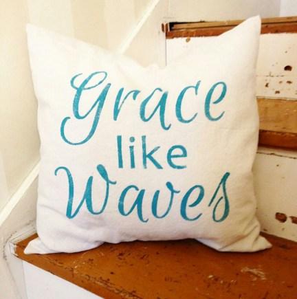 Grace Like Waves Pillow