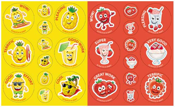 Scratch and sniff stickers · adelle