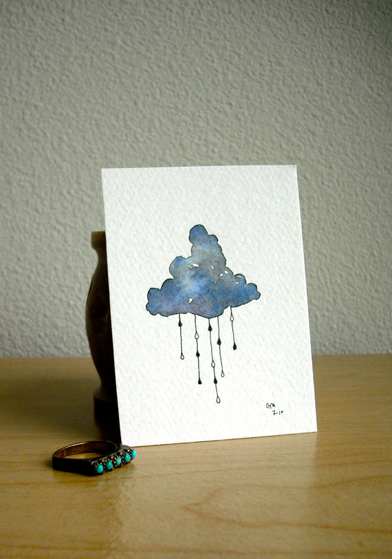 cloud water colour painting