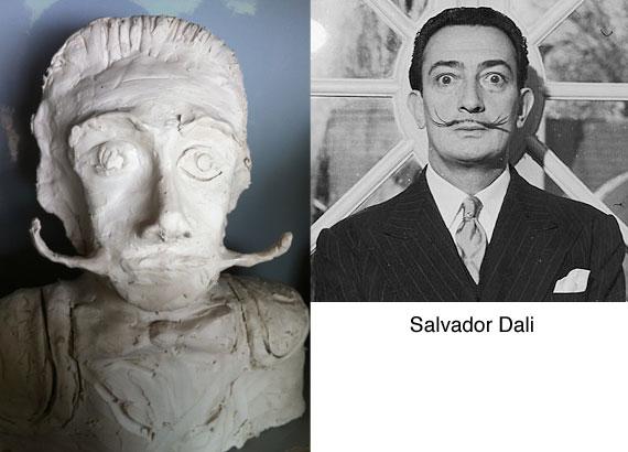 salvador-dali-clay-bust