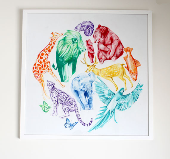 colourful-animal-nursery-art