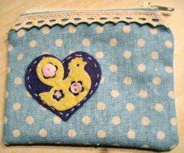 Chicken heart purse