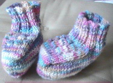 Sock yarn bootees
